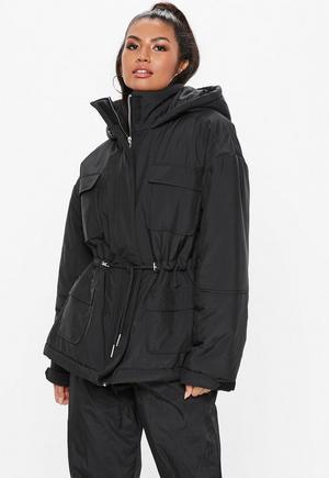 e1fdf773849b1 Black Cocoon Utility Parka Jacket