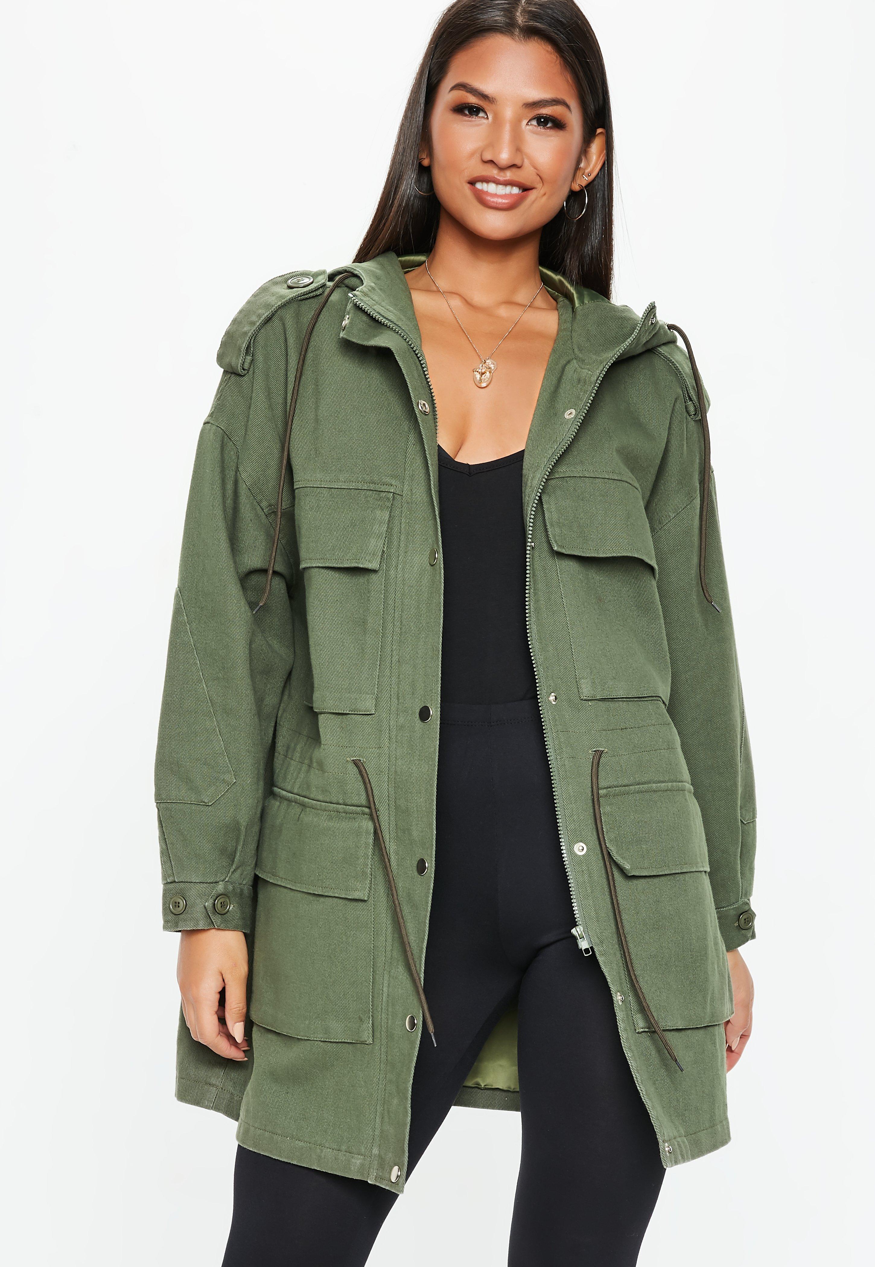 5e89920a94933 Khaki Coats | Khaki Green Jackets - Missguided