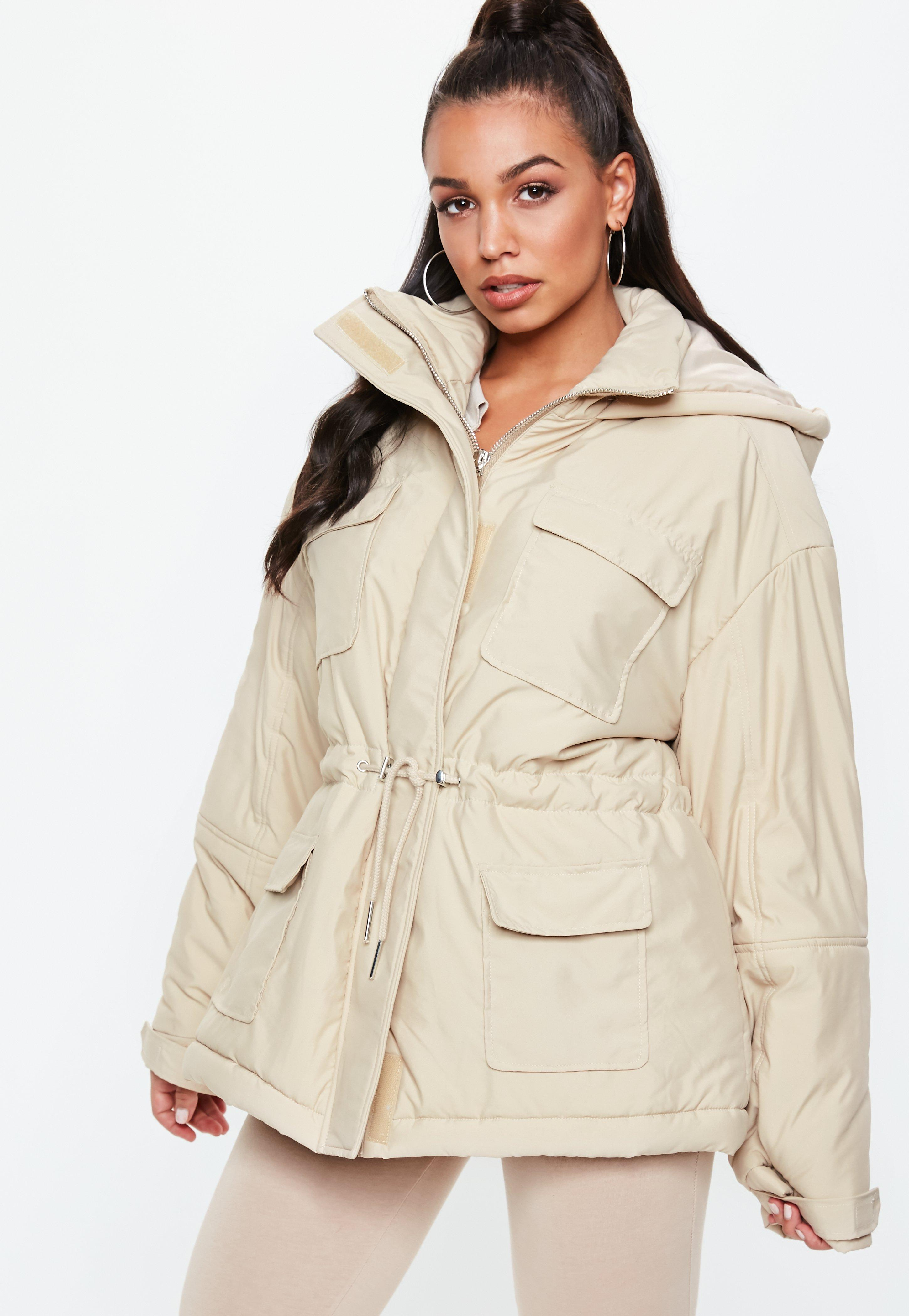 cca5299555a Cream Sporty Parka Jacket | Missguided