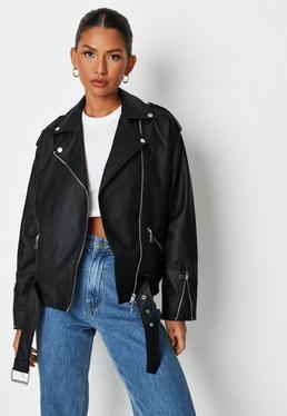 964a1b6168e6a Washed Black Oversized Denim Jacket  Black Boyfriend Biker Jacket