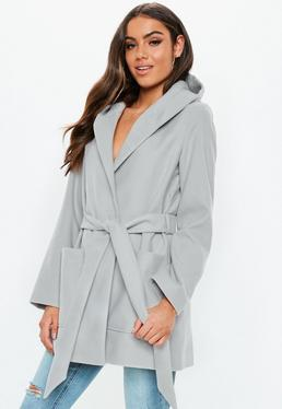 ca05b3372983 Grey Coats. Black Denim Jackets