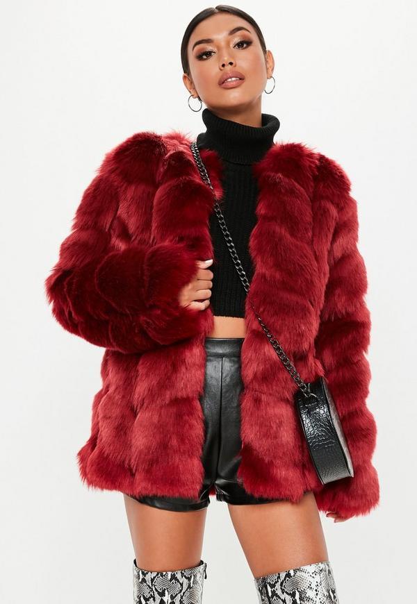... Red Faux Fur Bubble Coat. Previous Next 56e022badb9c0