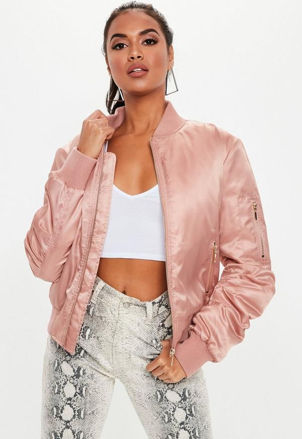 Pink Ultimate Ma1 Bomber Jacket by Missguided