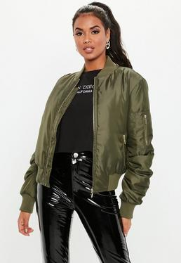 02013e82b23 Playboy X Missguided Black Motocross Zip Through Jacket · Khaki Ultimate  MA1 Bomber Jacket