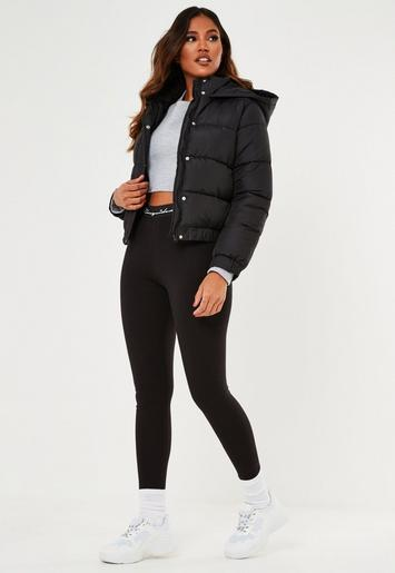 Black Puffer Jacket by Missguided