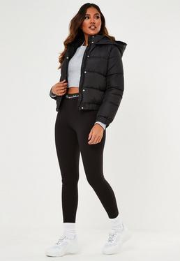 black puffer jacket