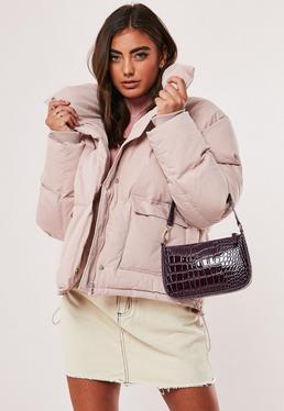 baby pink puffer jacket