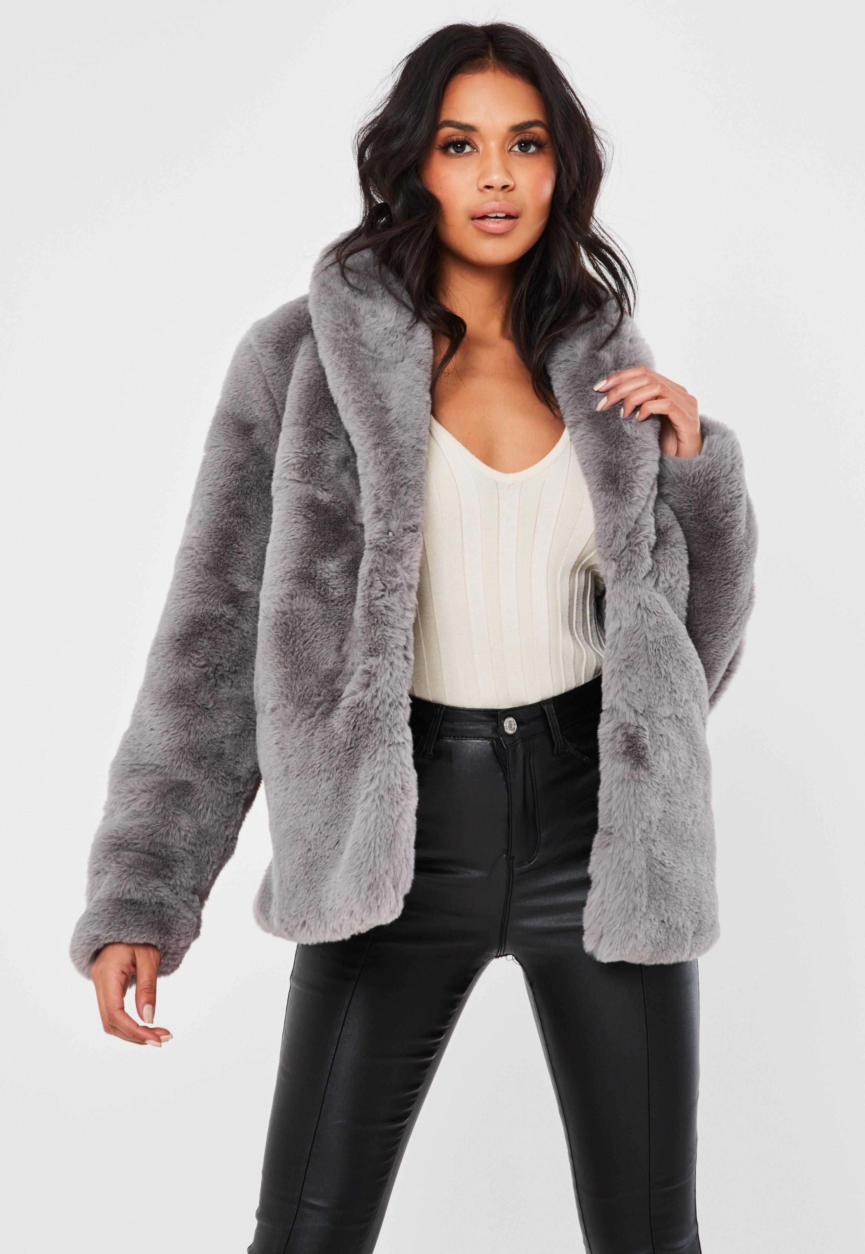 Image result for faux fur coat