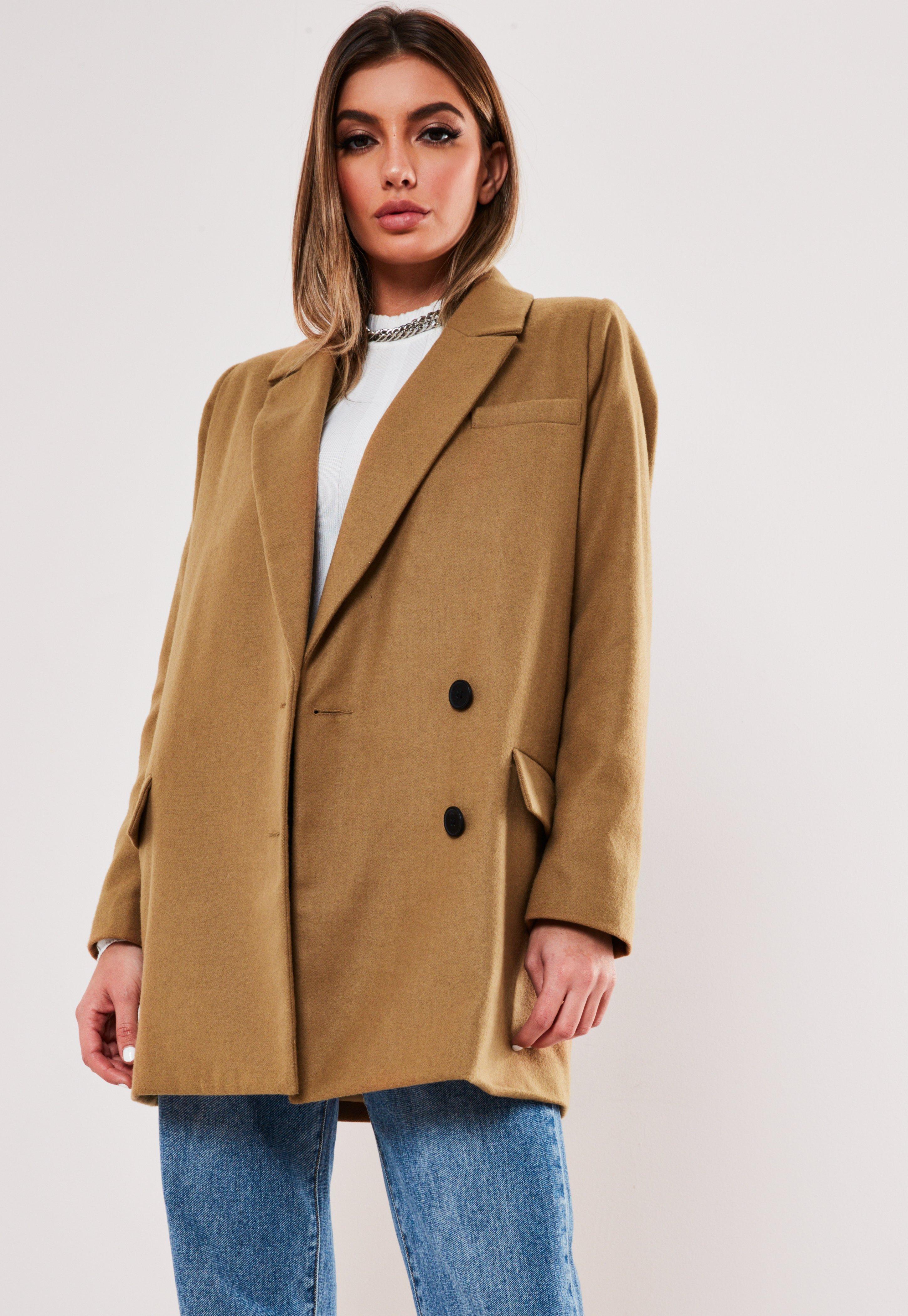 Grey Oversized Boyfriend Blazer Coat