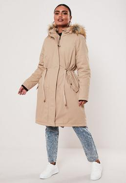 Beige Parka Coat