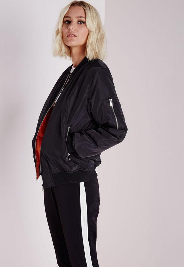 Padded Bomber Jacket Black | Missguided