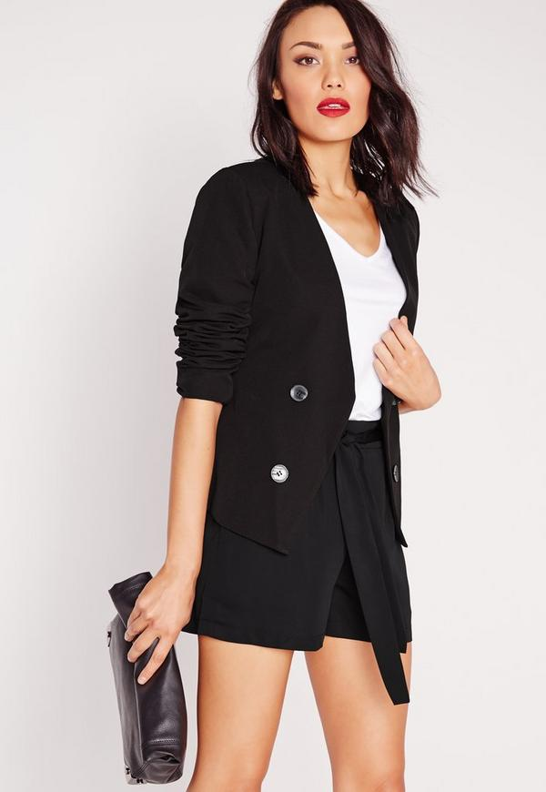 Short Tuxedo Blazer Black