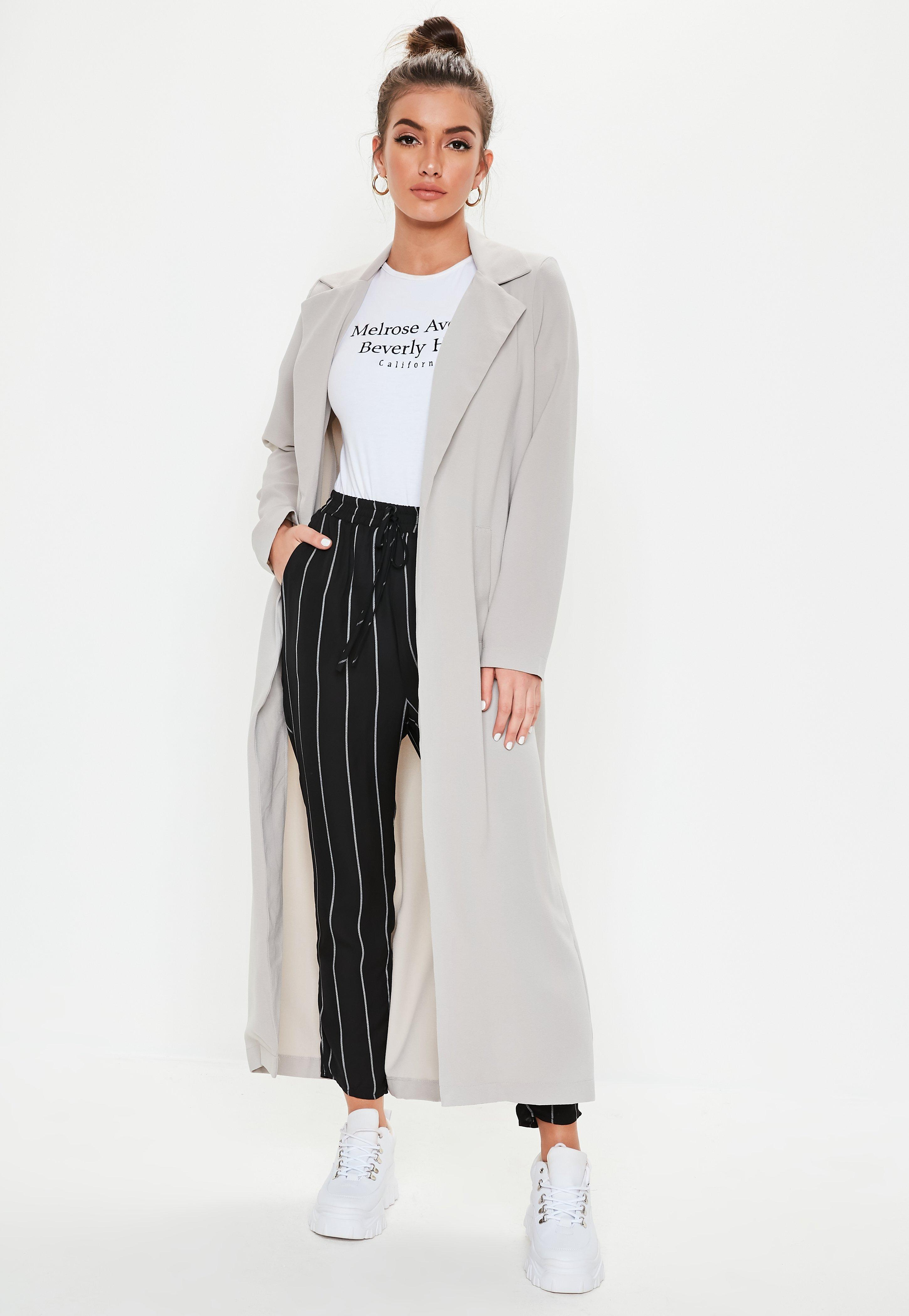 c1a9d59913 Missguided Long Sleeve Maxi Duster Jacket Grey at £30 | love the brands