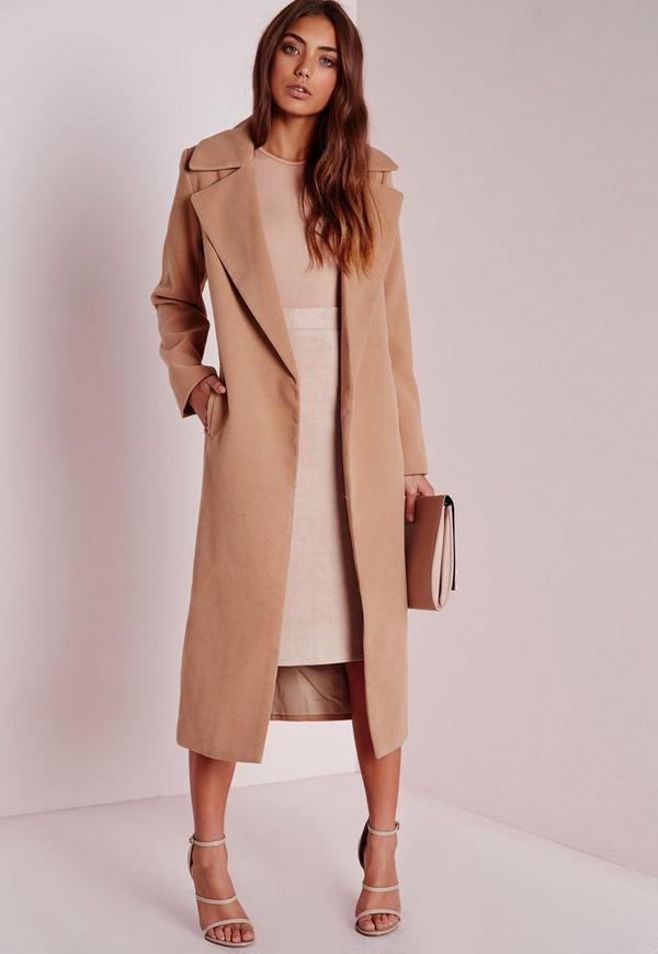 oversized camel coat missguided. Black Bedroom Furniture Sets. Home Design Ideas