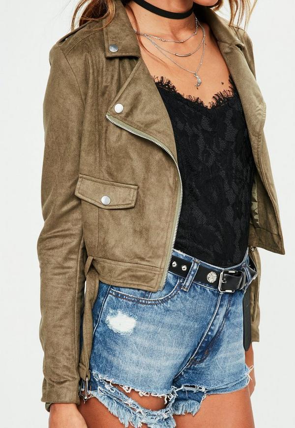 Khaki Jackets, Khaki Coats, Long Sleeve Tops, Khaki Tops, Fall Tops «Women's Floral Bomber Jacket – Navy / Pink / Zipper Down The Front Womens Half Sleeve Jacket – Khaki / Loose Lapel / Loose Fitting Large Coat».