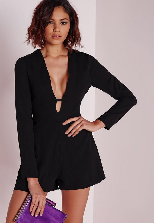 T-Bar Playsuit Black