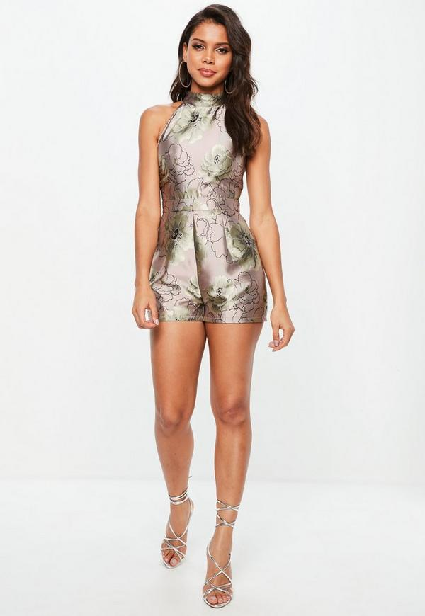 af641cdae9 ... Floral Print High Neck Playsuit. Previous Next