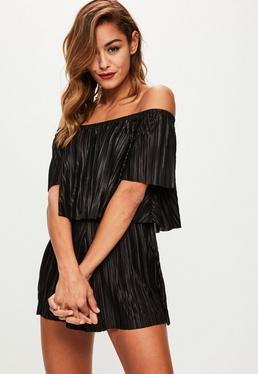 Black Double Layer Romper
