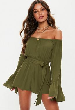 3bcd627cf6 Long Sleeve Playsuits - Missguided