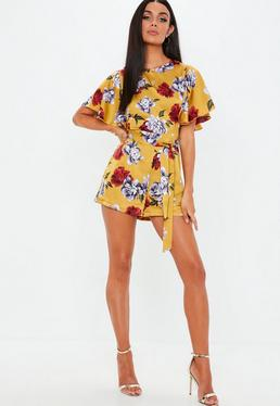 72b1b4a05b7 Mustard Playsuits · Long Sleeve Playsuits · Yellow Check Playsuits · Floral  Playsuits · Short Playsuits