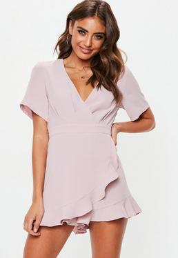 Wrap Over Wrap Tops Blouses Jumpsuits Missguided