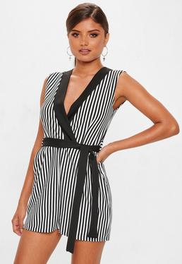 3971eb34b3b Belted Playsuits · Stripe Playsuits