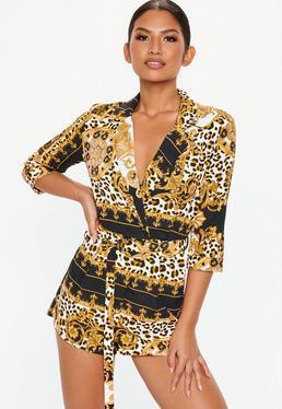 Leopard Print Playsuits 87f52f67f