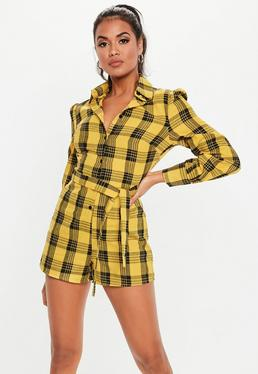393dbe03977 Yellow Playsuits