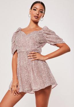 complete in specifications watch enjoy discount price Floral Playsuits | Flower Print Playsuits - Missguided