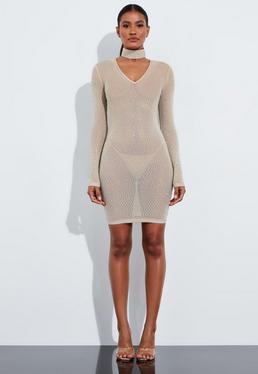 Пижамное мини-платье с V-образным вырезом Peace + Love