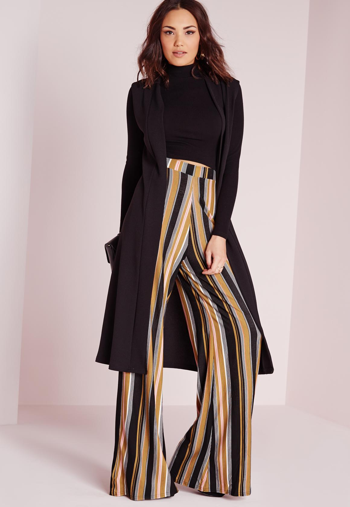 100% Original Buy Online With Paypal Missguided Wide Leg Striped Trousers Free Shipping 2018 Unisex Buy Cheap Store FGKgQqGE