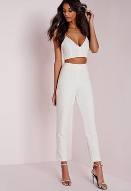 Cigarette Trousers White