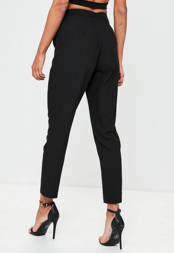 Stay one step ahead of the fashion curve with the slick and sharp cigarette trouser. Our crazy hot collection of eternally chic cigarette trousers will take you from day through to night for desk to disco ballin' looking as effortless as an off duty model.