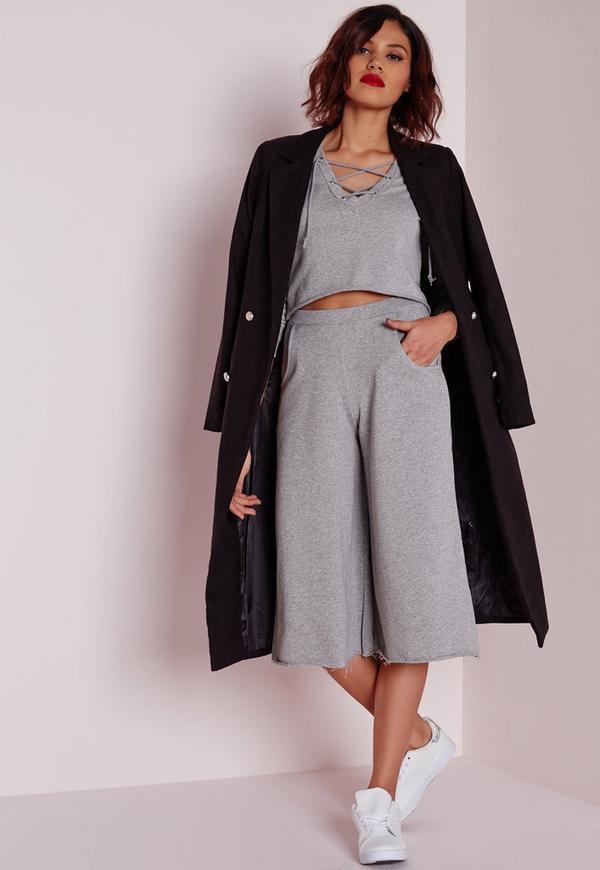 Loop Back Jersey Culottes Grey