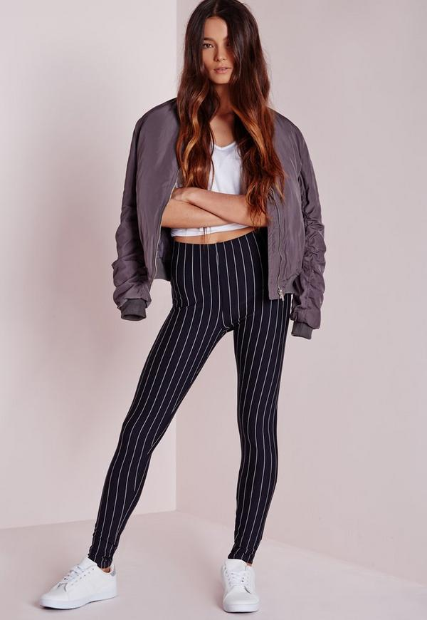 Pinstripe Leggings Navy