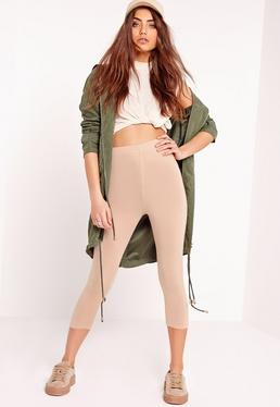Nude Cropped Leggings