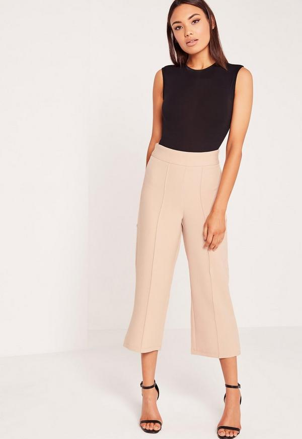 Formal Tailored Culottes Nude