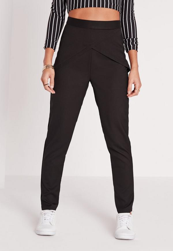 Perfectly versatile, pants have been the go-to look for decades and will take you from the office to the dance floor without a hitch. Opt for tailored, tapered, sports luxe or scuba and dominate the trend today.