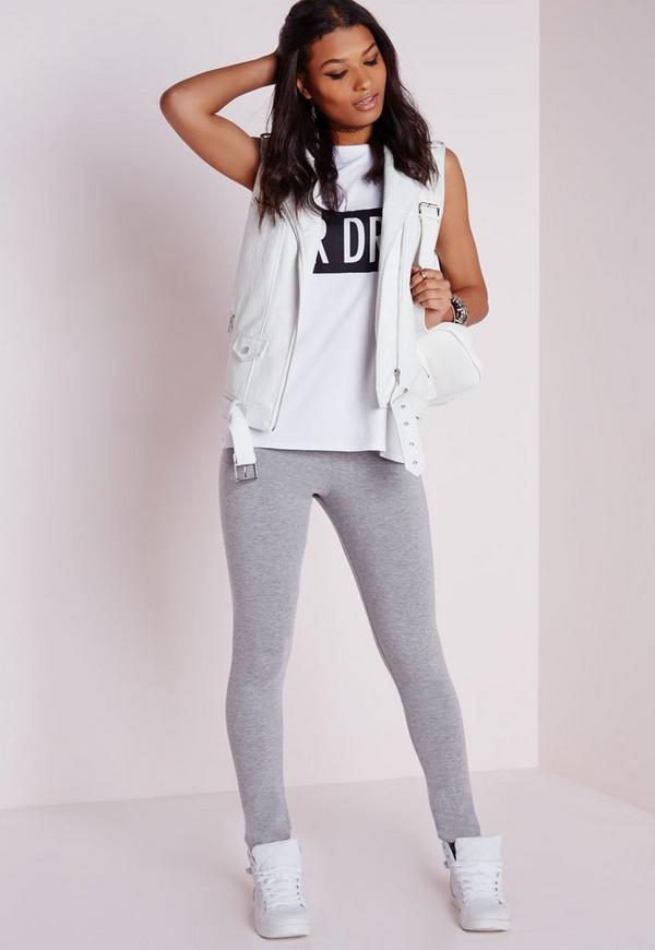 Basic Jersey Leggings Grey