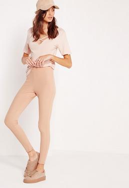 Legging nude effet bandage