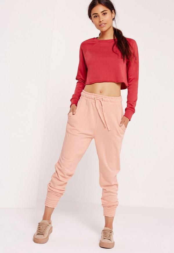 Slim Fit Joggers Pink