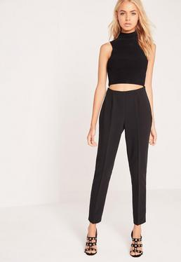 Crepe Pants Black