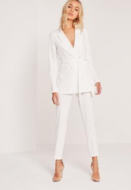 Crepe Trousers White