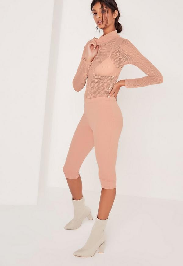 Basic Cropped Leggings Nude