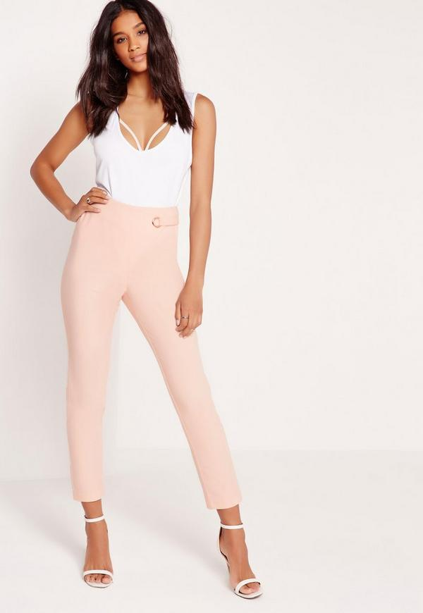 Eyelet Wrap Trousers Pink