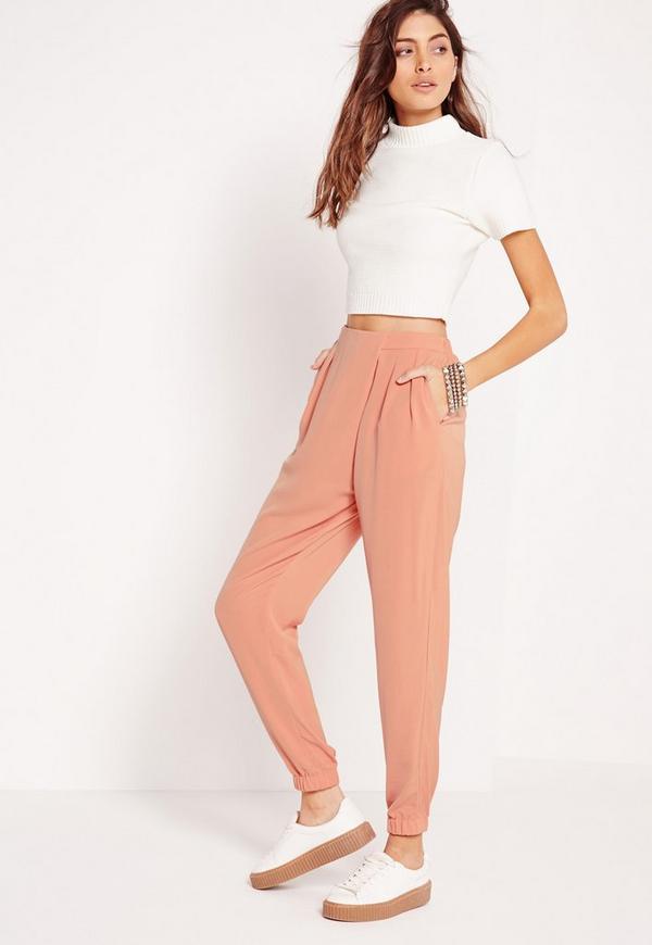 Formal Crepe Joggers Pink