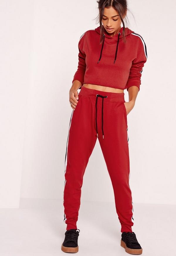 Stripe Jogger Red