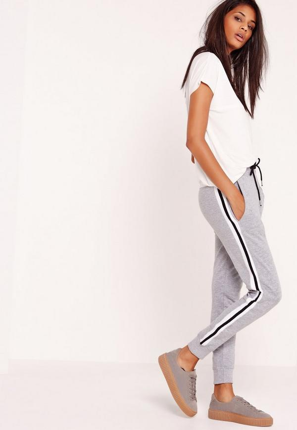 Striped Joggers Grey