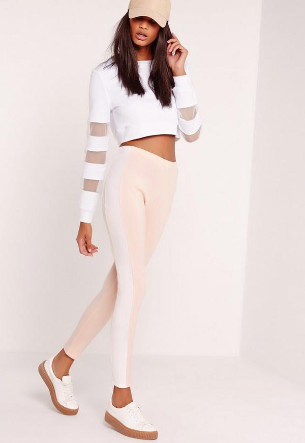 Scuba Panel Leggings Nude