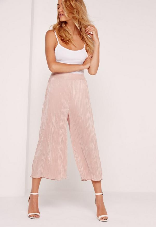 Crinkle Culottes Pink
